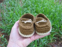 Brown baby boy shoes
