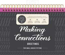 """American Crafts Kelly Creates Small Brush Workbook 11.6""""X10"""" 128/Pkg - Connections/Greetings"""