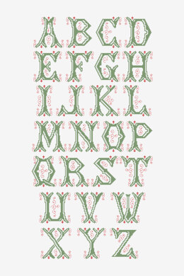 Vintage Alphabet Letters in DMC - PAT0807 -  Downloadable PDF
