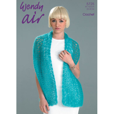 Crochet Shawl and Collar in Wendy Air - 5725