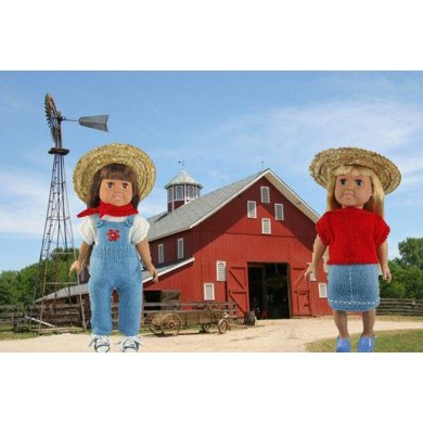 Down on the Farm, Knitting Patterns fit American Girl and other 18-Inch Dolls