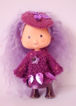 Airy Fairy tunic dress and vinyl skirt for vintage Strawberry Shortcake dolls