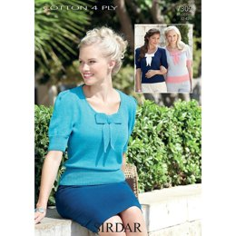 Sweater in Sirdar Cotton 4 Ply - 7309