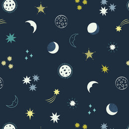 Lewis and Irene Small Things Glow - Night Sky On Dark Blue
