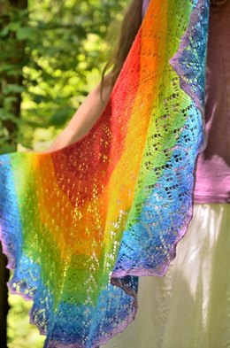 Soft Rainbow Shawl