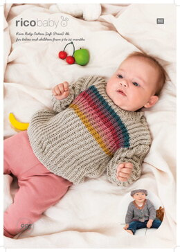 Jumper and Jacket in Rico Baby Cotton Soft Print DK - 993 - Downloadable PDF