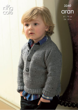 Coat & Sweater in King Cole Fashion Aran - 3340