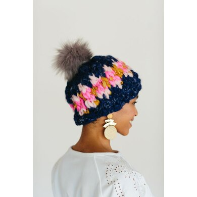 Cozy Thoughts Beanie Hat in Knit Collage Sister - Downloadable PDF