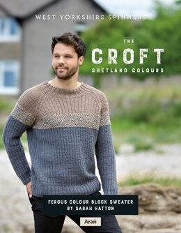 Fergus Colour Block Sweater in West Yorkshire Spinners The Croft Shetland Colours - DBP0071 - Downloadable PDF