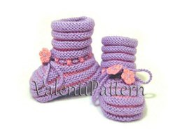 Baby girl and boy booties pattern 03