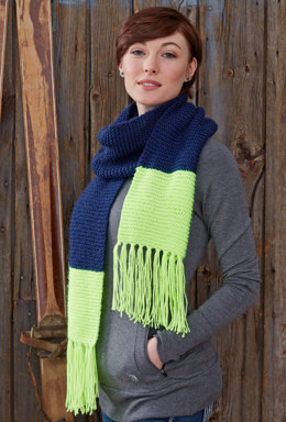 Bold Stripes Scarf in Caron Simply Soft - Downloadable PDF