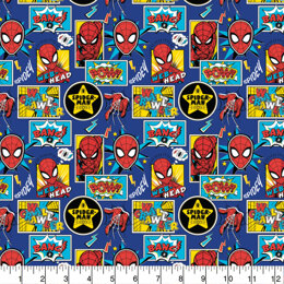 Visage Textiles - Spiderman Outside The Box Navy
