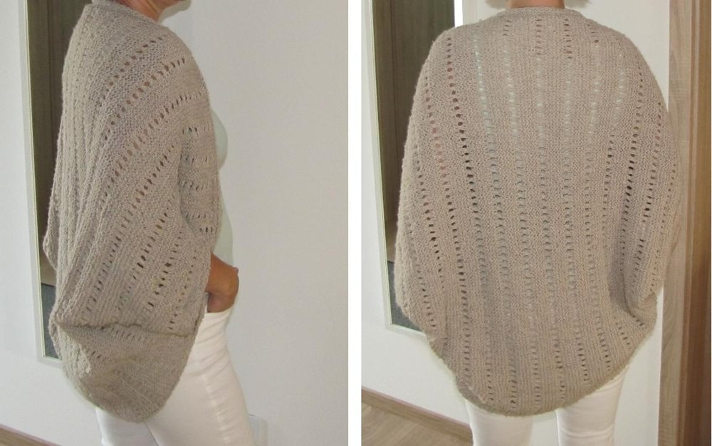 Jacket / Cardigan as Square knitted Knitting pattern by ...