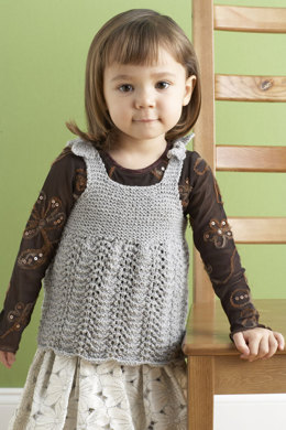 Child's Glamour Dress in Lion Brand Vanna's Glamour - 80844AD