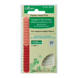 Clover Flower Head Pins - Red