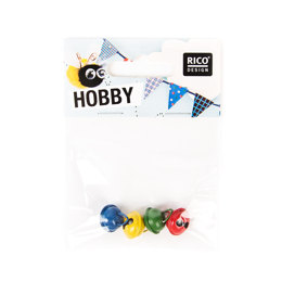 Rico Bells Assorted Colours - 14mm