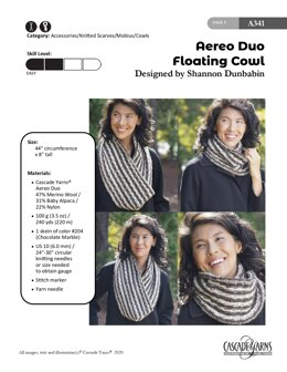 Floating Cowl in Cascade Yarns Aereo Duo - A341 - Downloadable PDF