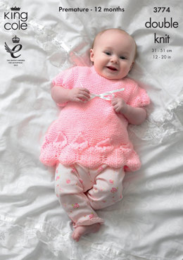 Jacket, Bolero and Dress in King Cole Baby Glitz DK - 3774
