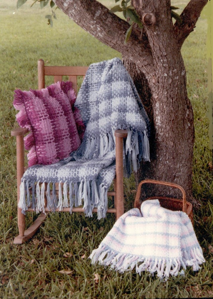 Plaid Afghan And Pillow Crochet Pattern By Shady Lane Crochet