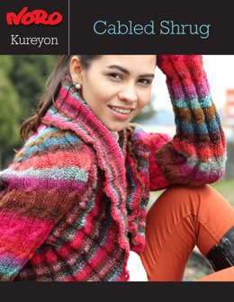 Cabled Shrug in Noro Kureyon