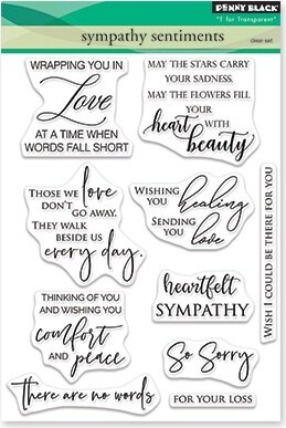 """Penny Black Clear Stamps - Sympathy Sentiments 5""""X6.5"""""""