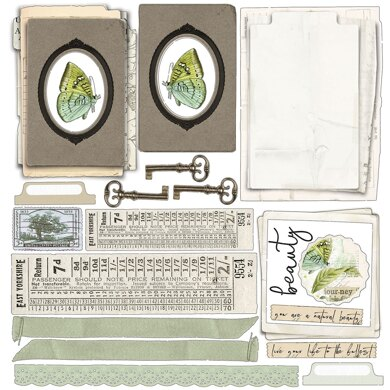 """49 And Market Collection Pack 12""""X12"""" - Vintage Artistry Sage"""
