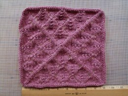 Lacy Leaves Blanket Square