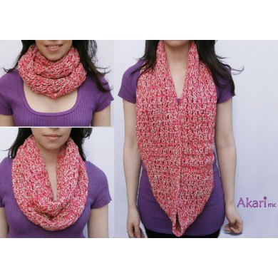 Long crochet circle scarf. Up to 3 loops _ M15