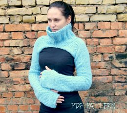 Adult Knit Crop Sweater
