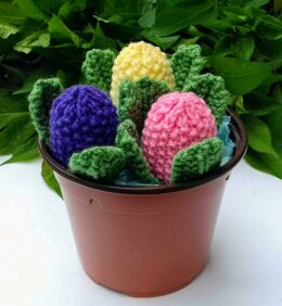 Budding Hyacinths - Easter Egg Covers
