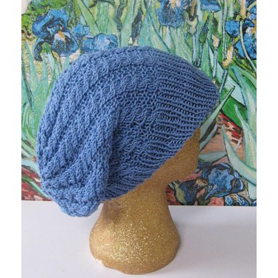 IRIS CABLE PEAK SLOUCH HAT