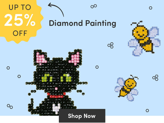Up to 25 percent off diamond painting kits!