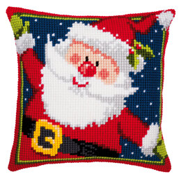Vervaco Father Christmas Cushion Front Chunky Cross Stitch Kit - 40cm x 40cm