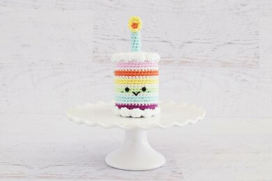 Rainbow Birthday Cake Free Pattern