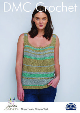 Stripy Happy Strappy Vest in Natura Linen in DMC - 15471L/2