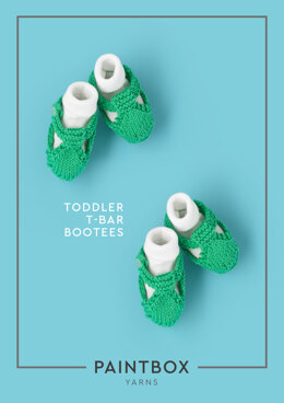 Toddle T-bar Bootees in Paintbox Yarns Cotton DK - Downloadable PDF