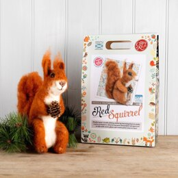 The Crafty Kit Company Highland Red Squirrel Needle Felting Kit - 190 x 290 x 94mm