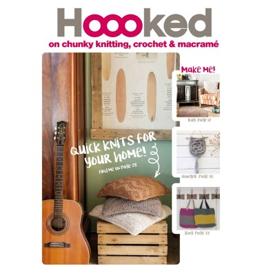Hoooked on Chunky Knitting, Crochet and Macrame - Downloadable PDF
