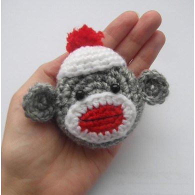 Sock monkey tape measure cover