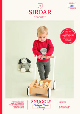 Baby's Sweater & Dog Toy in Sirdar Snuggly Cashmere Merino & Snuggly Bunny - 5371 - Leaflet