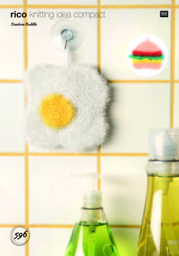 Fried Egg and Burger Scrubbers in Rico Creative Bubble - 596