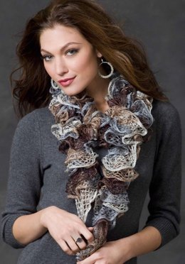 Smoky Swirls Scarf in Red Heart Boutique Sashay - LW2920