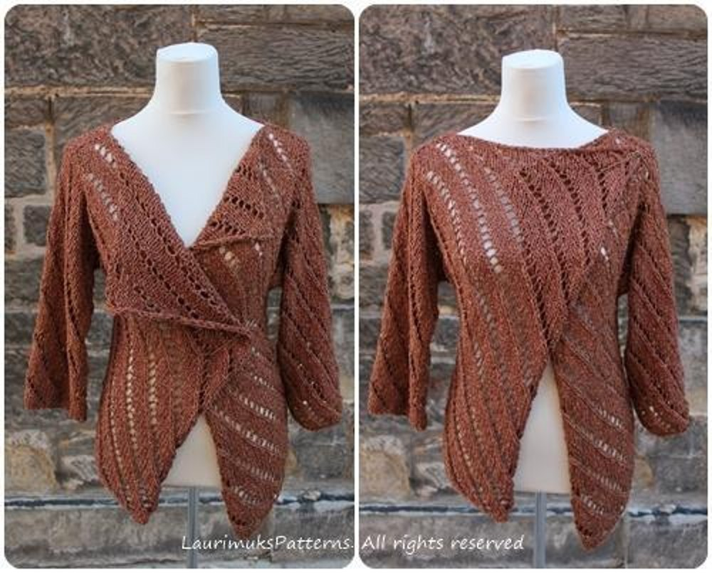 Knitting Patterns For Rowan Summer Tweed : Rowan Summer Tweed Aran Wrap Knitting pattern by Laura Dovile