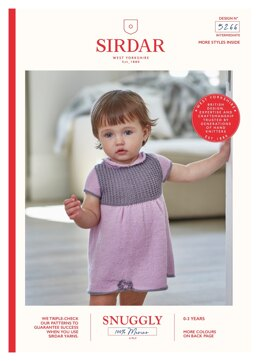 Dress and Shoes in Sirdar Snuggly 100% Merino 4 Ply - 5266 - Downloadable PDF