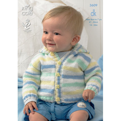 Cardigans in King Cole Splash DK - 3609