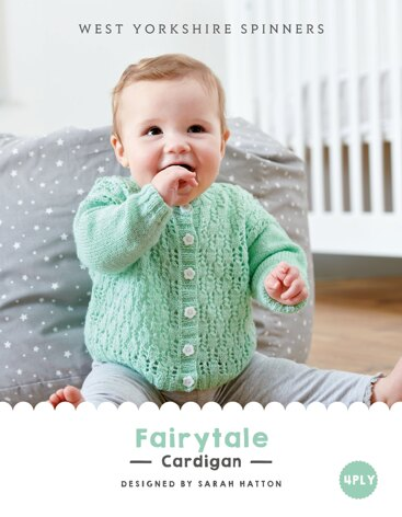 Fairytale Cardigan in West Yorkshire Spinners Bo Peep 4 Ply - DBP0017 - Downloadable PDF