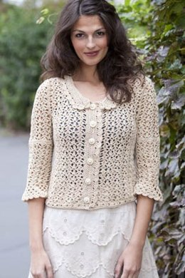 Sandy Lace Jacket in Tahki Yarns Cotton Classic Lite