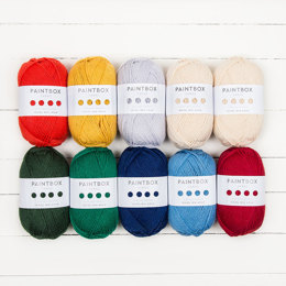 Intarsia Mountain KAL - Paintbox Yarns Wool Mix Aran 10 Ball Colour Pack