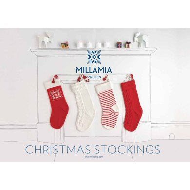 Christmas Stockings : Stocking Knitting Pattern for Christmas in MillaMia Yarn
