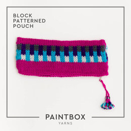 Block Patterned Pouch in Paintbox Yarns Wool Worsted - Downloadable PDF